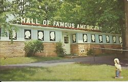 Old Vintage Hall Of Famous Americans At Santa Claus Land Indiana Postcard