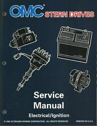 Omc Outboard Marine Stern Drives Electrical/ignition 1996 Service Manual 507144