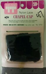 Vintage Chapel Cap !Nylon Lace! With carry case! Unique old hard to find Item!  $69.99