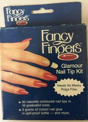 Vintage Nail Tip Kit Pack Of 20 Fancy Fingers Unique Old Retro Items Nice