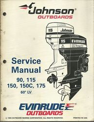 Evinrude Johnson Outboards 90 115 150 150c 175 1995 Service Manual P/n 503151