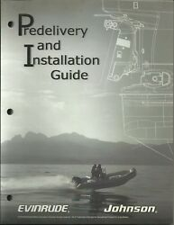 Evinrude Johnson Marine Boat Predelivery And Installation Guide Part No. 5006079