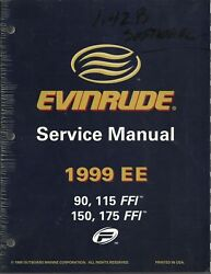 Evinrude Outboards Boat 1999 Ee 90 115 150 175 Ffi Service Manual P/n 787024