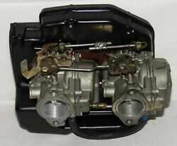 Omc Outboard Marine Corp Boat 2 Carburetors And Cover Assembly Part No. 321700