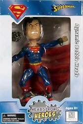 Headstrong Heroes Collection_superman 8 Inch Resin Dynamic Bobble Head_new And Mib