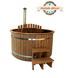 Andoslash16m Hot Tub Plastic Inner And Spruce Wood With Outside Heater Wooden Benches
