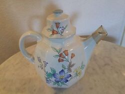 Mikasa Continental Fine China Rose Hips 6 Cup Coffe Pot And Lid. Discontinued.