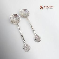 Mexican Sterling Silver Aztec Calendar Spoons 1955