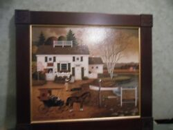 Birch Point Cove - Charles Wysocki - Framed - Sign And Number Ltd Ed Canvas
