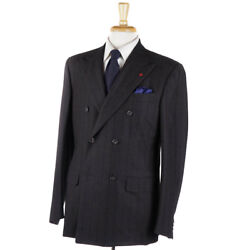 Nwt 3895 Isaia Dark Brown Flannel 'tridimensional Comfort' Wool Suit 40 R