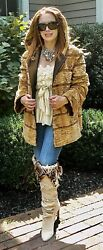 Sheared Mink Hooded Fur Jacket - Reversible To Water Repellent Taffeta New 6 -10