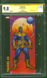 Thanos 4 Cgc Ss 9.8 Stan Lee Signed Jusko 2017 Variant Avengers Infinity War