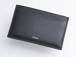 H5991M Authentic Cartier Genuine Leather Business & Credit Card Case