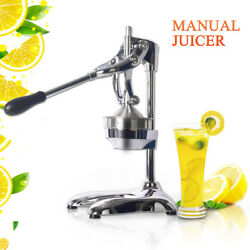 Manual Hand Press Juicer Squeezer Fruit Juicers Stainless Steel + Aluminum Alloy