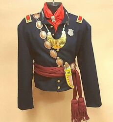 Authentic Handmade Creek Indian Native American Army Scout War Shirt 20x 31