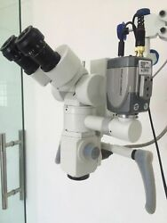 5 Step - Dental Wall Mount Microscope - Wd Beam Splitter And Ccd Camera- Silver