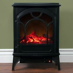 Northwest Free Standing Electric Log Fireplace Thermostat Control 21 X 16 X 10
