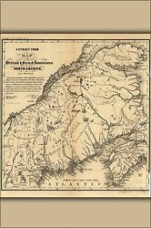 Poster Many Sizes Map Of Northern Maine 1755