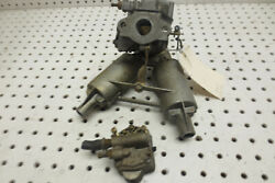 Carburetor 12 Hp Gale Outboard Motor 1950and039s - 60and039s Buccaneer W/ Intake And Pump