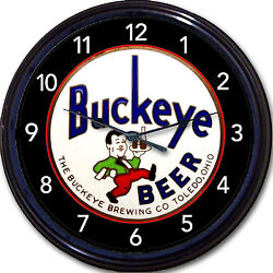 Buckeye Brewing Co Toledo Oh Tap Handle Beer Wall Clock Ale Lager Man Cave 10