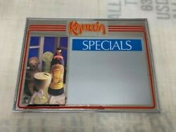 Kahlua Bar Mirror And Bar Specials With Dry Erase Board