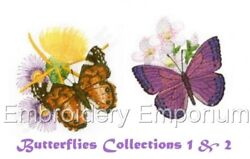 Offer Butterflies Collections 1 And 2 - Machine Embroidery Designs On 2 Cds/usb