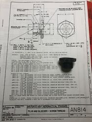 2ea An814-10l 5/8andrdquo Od O-ring Boss Bleeder Plug With Lockwire Holes