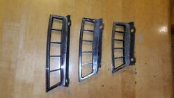 1965 1966 Mustang Original Oem Fastback Lh Louver Vent Outer Grilles W/ Housing