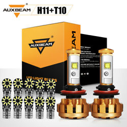AUXBEAM H11 H9 H8 60W CREE LED Headlight+T10 168 194 5730SMD Chipset LED Bulbs