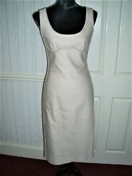 Pale Pink/nude Alexander Mcqueen Shift/wiggle Dress Size 10 Italy 42v.g.c