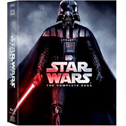 Star Wars Complete Saga 9-disc Collection Blu-ray Film Collection Cd Dvd