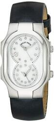 Philip Stein Women's Signature Analog Display Watch With Black Patent Leather St