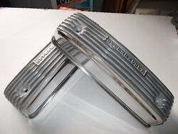 Offenhauser Valve Covers Y-block Ford Polished Finned Aluminum