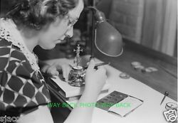 Vintage 1936 Photo At Hamilton Watch Company In Lancaster Pa - 8 By 10
