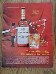 1969 Windsor Supreme Canadian Whiskey Whisky Ad Smoothest Come Out Of Canada