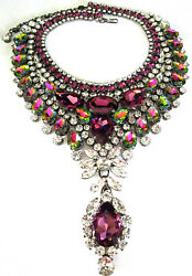 Thorin And Co Fabulous Vibrant Watermelon Crystal Statement Bib Necklace