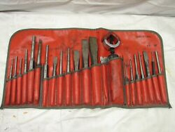Snap-on Chisel And Punch 22 Pc C2201 Auto Body Repair Shop Tools