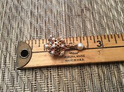 14k Antique Birthday Cake And Candle Charm With Colored Stones