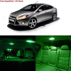 cciyu 10x Green LED Bulb Lights Full Interior Package Kit Replacement fit...