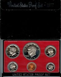 1977 Us Proof Set Nice Toned Kennedy Cp3021-1