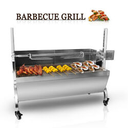 Stainless Steel Goat Pig Chicken Bbq Spit Rotisserie Roaster M/ Electric Motor
