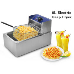 Commercial 6l Electric Countertop Dual Tank Deep Fryer For French Fries Chicken
