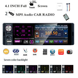 4and039and0391 Din Car Radio 2usb Full Touch Screen Rds Am Stereo Bluetooth Fm Mp5 Player