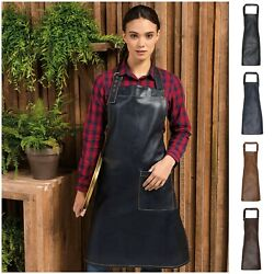 Faux Leather Apron For Cafe Restaurant Chefs Butchers Kitchen Cooking Baking