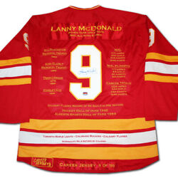 Lanny Mcdonald Career Jersey 9 Of 199 - Autographed - Calgary Flames