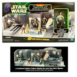 Star Wars Power Of The Force Jabbaand039s Palace 3-d Display Diorama Playset Han Solo