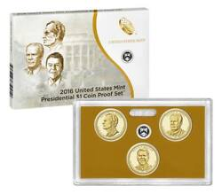 2016 Presidential Proof Set Us Mint 3 Coins Original Us Mint Packaging Cp3555