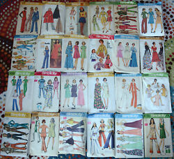 1960and039s - 90and039s Simplicity Sewing Patterns Womens Size 14 With 36 Bust You-choose