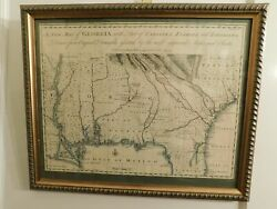 1748 South East Usa Map With French And English Indian Tribes And Trade Routes