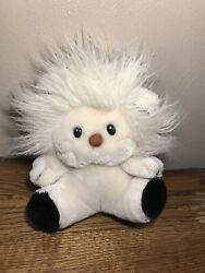 Applause Russ Berrie Vtg 1983 White Black 8andrdquo Bandy Lion Stuffed Plush Toy